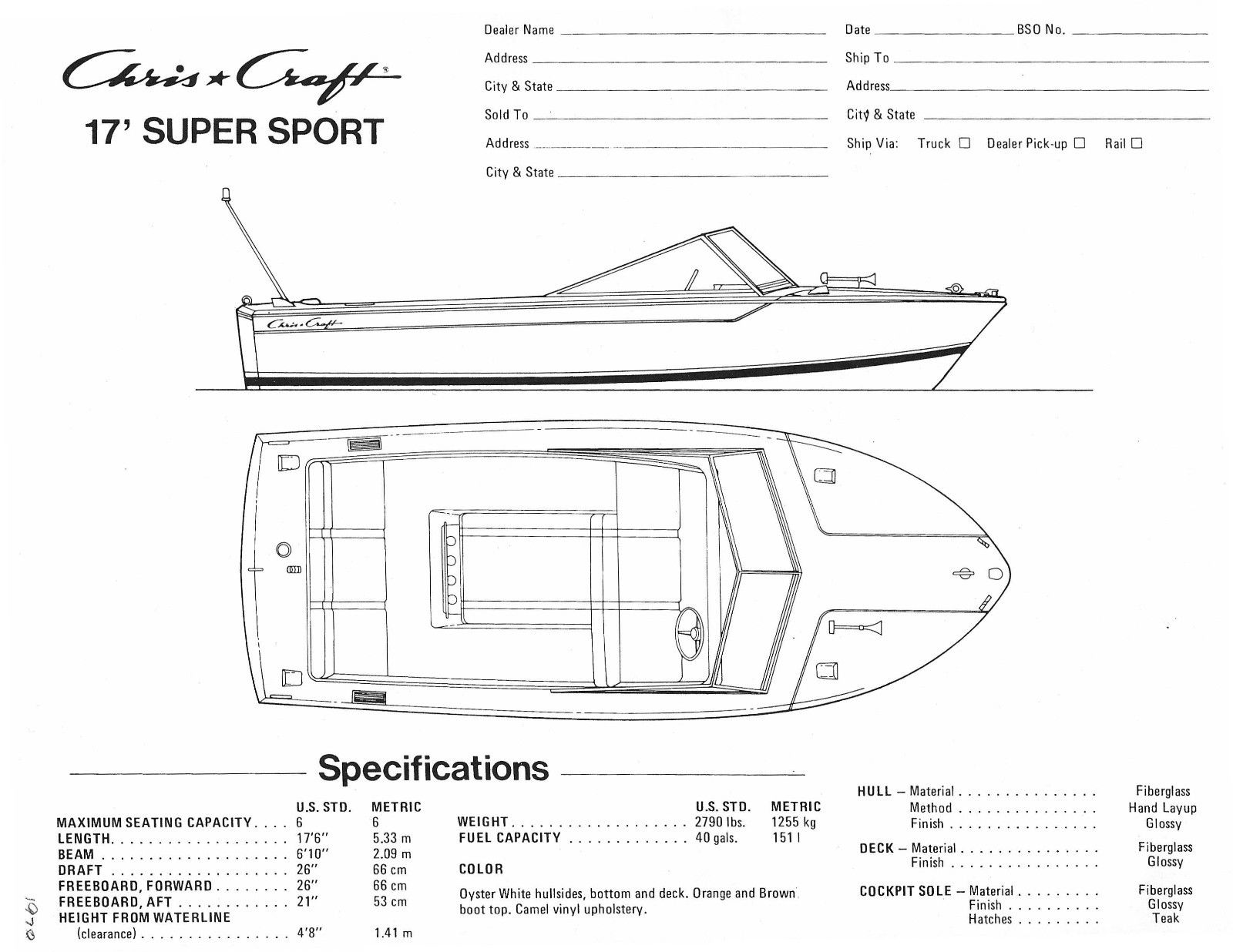chris craft 17 u0026 39  super sport boat for sale from usa