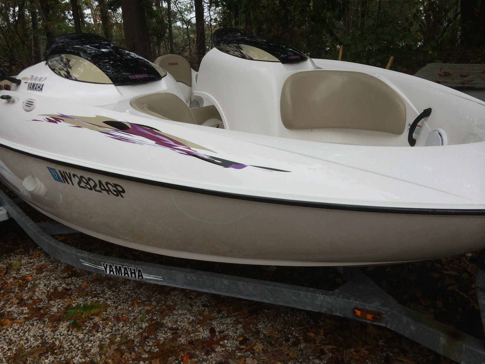 yamaha ls2000 jet boat with galvanized trailer boat for